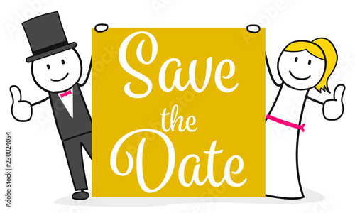 Photo Save the Date / Hochzeit / Termin / Einladung / Karte
