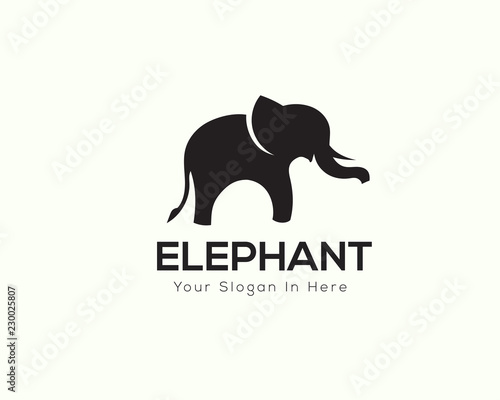 9e385aab9 Stand elephant logo design inspiration - Buy this stock vector and ...