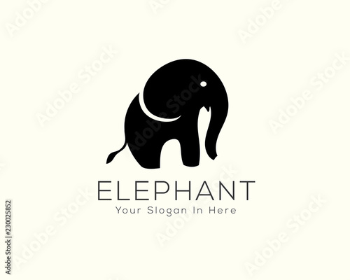 74e6a9f8deba simple stand elephant logo
