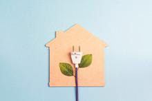 House Symbol With Plug Like A ...