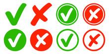Check / Kreuz / Haken / Set / Sammlung / Checkbox / Erledigt