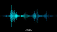Vector Sound Wave In Blue Gree...
