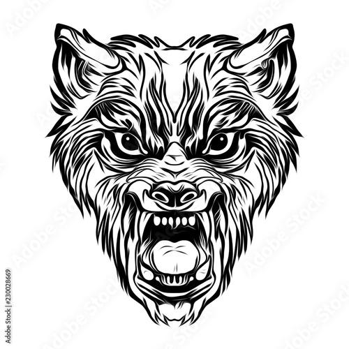 тату дикая личность волка