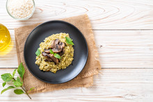 Mushroom Risotto With Pesto An...