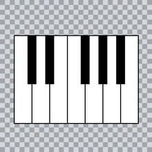 Piano Chords Or Piano Key Notes Chart On Transparent  Background Vector Illustration