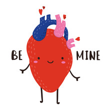 Be Mine. Hand Drawn Cute Anato...