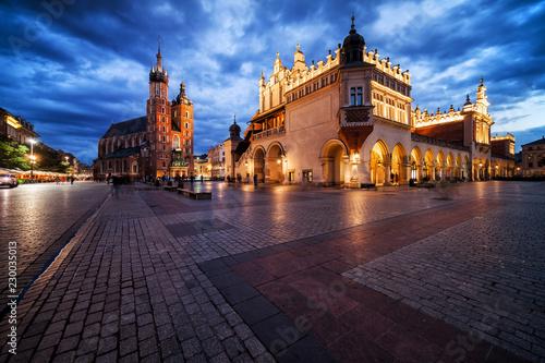 Fototapeta Old Town Main Square in Krakow at Twilight obraz