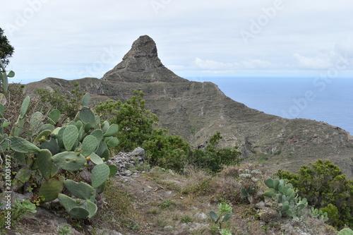 Big Mountain at the Mirador Fuente de Lomo in Taborno in the north of Tenerife, Europe