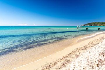piękny widok na plażę Pampelonne, Saint Tropez, Riwiera Francuska, Francja