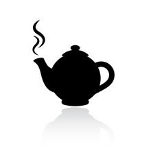 Teapot Vector Silhouette Icon