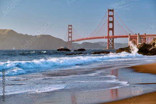 Tuinposter Amerikaanse Plekken Golden Gate Bridge, San Francisco, California