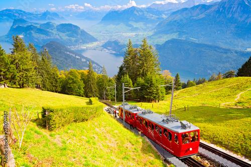 Poster Railroad Pilatus, Schweiz