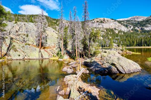 Spoed Foto op Canvas Verenigde Staten Lone Pine Lake, Rocky Mountains, Colorado, USA.