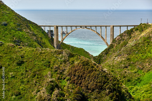 In de dag Verenigde Staten Bixby Creek Bridge on Highway 1, California