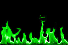 Abstract Chemical Green Fire F...