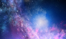 Starry Sky In Open Space