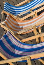 Deck Chairs On Pier Decking