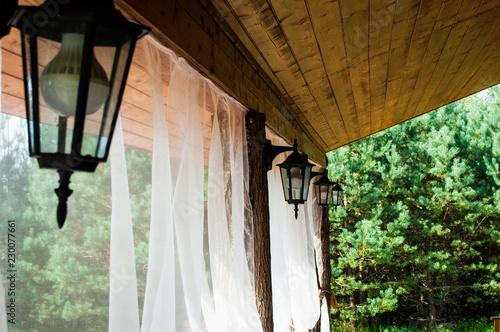 Photo  lanterns on the terrace