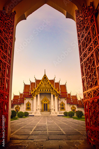 Wat Benchamabophit ,marble temple one of bangkok thailand capital landmark