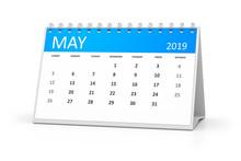Table Calendar 2019 May