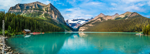 La pose en embrasure Canada Canada rockies, Banff, lake Louise
