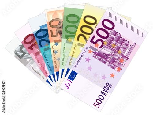 Fotografía euro banknotes