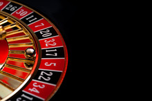 Gambling, Casino Games And The Gaming Industry Concept With Seventeen The Winning Number, 17 Is A Black Number On The Roulette Wheel