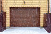 Garage Gate, Rolling Shutters In Winter