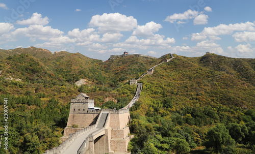 Deurstickers Chinese Muur View of one of the most scenic sections of the Great Wall of China, north of Beijing