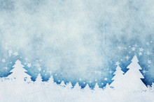 Blue Christmas Background Wate...