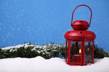 Candle In A Little Red Lantern...