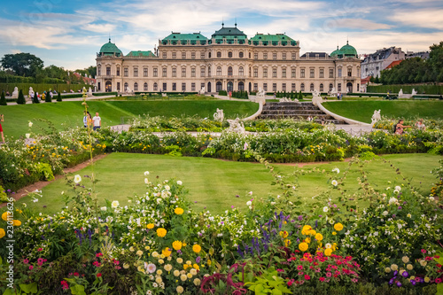 In de dag Wenen Gardens of the Belvedere Palace in Vienna, Austria
