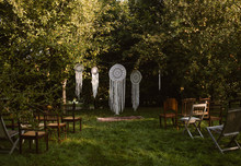 Bohemian Outdoor Wedding Ceremony