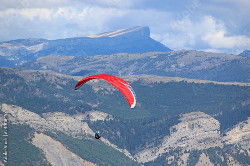 Paraglider in the French Alps