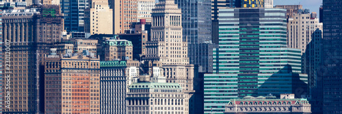 Foto op Canvas New York City Wall Street Windows