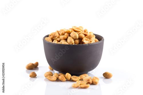peanut nuts salt in bowl Fototapeta