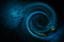 Abstract Space Wallpaper. Black Hole With Nebula Clouds In Outer Space. Elements Of This Image Furnished By NASA.