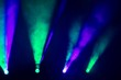 Lichter der Movingheads im Nebel