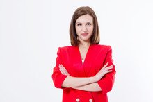 Serious Young Business Woman W...