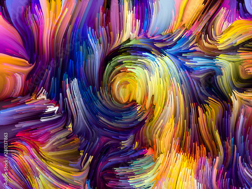 Fototapety, obrazy: Visualization of Fused Colors