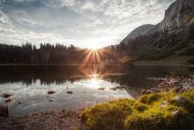 Lake In Styrian Mountains, Aus...