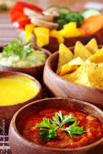 Poster Fleur Mexican Salsa Guacamole Melted Cheese Nachos