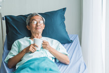 Old Man Rest In Hospital With ...