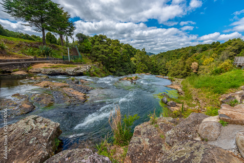 Printed kitchen splashbacks Air photo Scenic reserve surrounding the Hatea River in Whangerei New Zealand