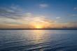 Lagoon of Bacalar at sunset