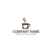 Coffee Lovers Logo Design Vector Template