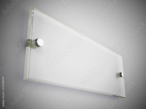 Carta da parati Acrylic office door sign or plate on the wall. 3D illustration