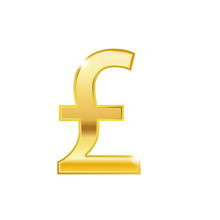 Vector Money Great British Pound Sterling Sign (Sterling Coin Icon) Isolated On White Background