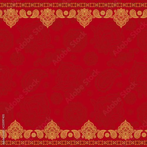 Fototapeta Sari indian seamless pattern obraz