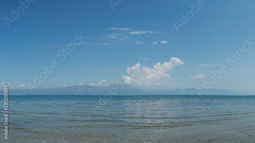 Blue beach landscape